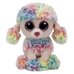 Peluche Beanie Boo's - Rainbow le caniche 15 cm