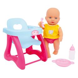 Poupon 30 cm avec chaise haute