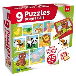 9 puzzles progressifs