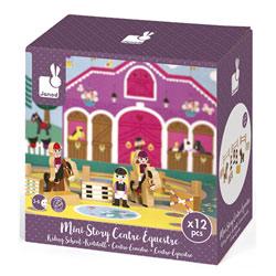Mini Story - Figurines centre équestre en bois