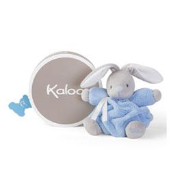 Doudou lapinou bleu 18 cm