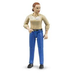 Figurine femme avec jean bleu