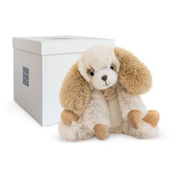 Doudou Softy chien écru 25 cm