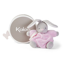 Peluche lapin patapouf rose 18 cm