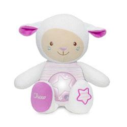 Peluche mouton tendres mots doux rose