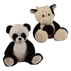 Peluche panda ou vache 40 cm