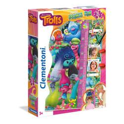 Trolls-Maxi puzzle avec toise 30 pièces