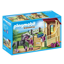 6934 - Box avec pur-sang Arabe Playmobil Country