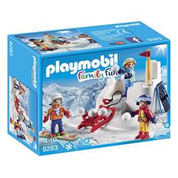 9283 - Playmobil Family Fun Enfants avec boules de neige