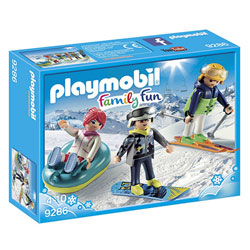 9286 - Playmobil Family Fun Vacanciers aux sports d'hiver