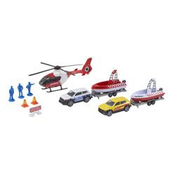 Set voiture hélicoptère et bateau