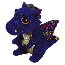 Beanie boo's small-Peluche saffire le dragon 15 cm