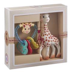 Coffret cadeau Sophie la Girafe et hochet coeur