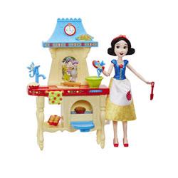 Poupée Blanche-Neige et sa cuisine