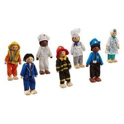 Ensemble de poupées professions