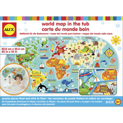 Carte du monde dans le bain