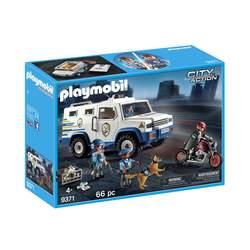 9371-Playmobil City Action-Fourgon blindé avec convoyeurs