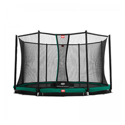 Trampoline InGround Champion 330 vert avec filet Comfort