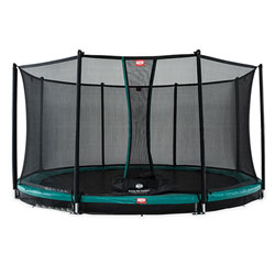 Trampoline InGround Champion 380 vert avec filet Comfort