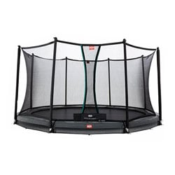 Trampoline InGround Champion 330 gris avec filet Comfort