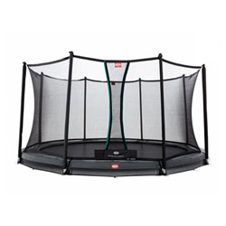 Trampoline InGround Champion 430 gris avec filet Comfort