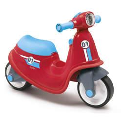 Porteur enfant scooter avec roues silencieuses - rouge