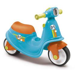 Porteur enfant scooter avec roues silencieuses - bleu