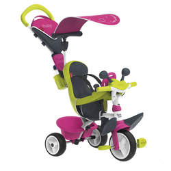 Tricycle baby driver confort 2-roues silencieuses-dispositif roue libre + verrouillage guidon-rose