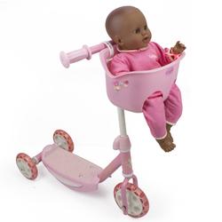 Trottinette avec porte bébé