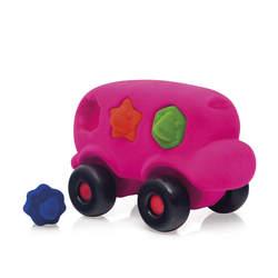 Bus éducatif à formes rose