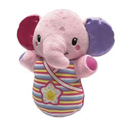 Peluche veilleuse éléphanteau dodo rose