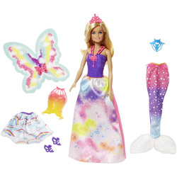 Barbie Dreamtopia-Poupée 3 tenues
