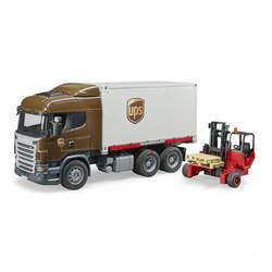 Camion Scania UPS avec chariot élévateur
