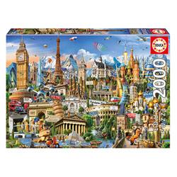 Puzzle 2000 pièces Symboles d´Europe
