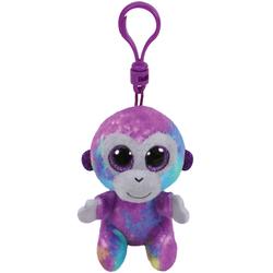 Beanie Boo's- Porte-clés Zuri le singe multicolore