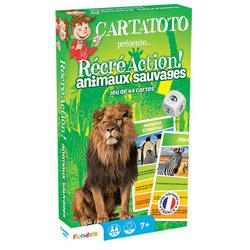 Jeu de cartes Récré Action animaux sauvages