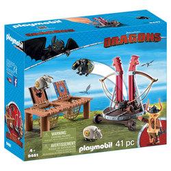 9461 - Playmobil Dragons Gueulfor avec baliste lance-mouton