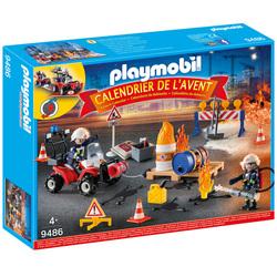 9486 - Calendrier de l'Avent Pompiers et incendie de chantier - Playmobil