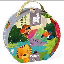 Valisette puzzle panoramique Jungle 36 pcs