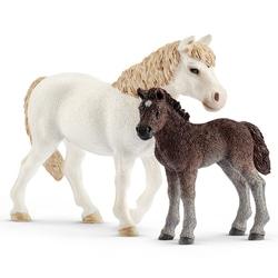 Figurines ponette et poulain