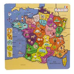 Puzzle carte de France en bois