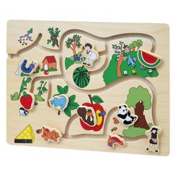 Puzzle circuit en bois
