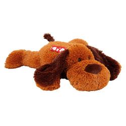 Peluche chien couché pailleté 45 cm