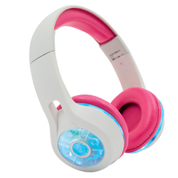 Casque Bluetooth LED MP3 rose