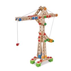 Jeu de construction bois - maxi grue - 170 pièces - 5 en 1