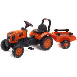 Tracteur à pédales Kubota avec remorque orange