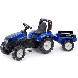 Tracteur à pédales New Holland avec remorque