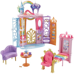 Barbie Château arc-en-ciel transportable
