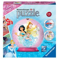Puzzle 3D Rond 72 pièces Disney Princesses