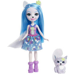 Enchantimals mini-poupée Winsley Wolf et Trooper
